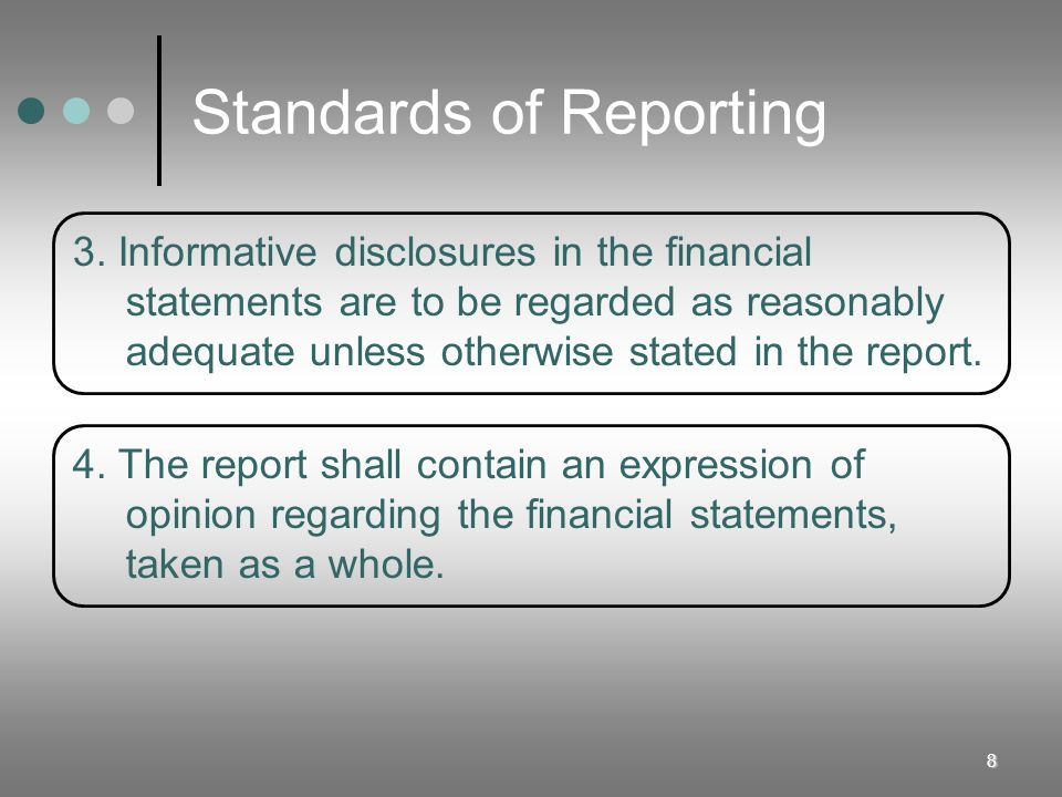 9 Generally Accepted Auditing Standards General Standards 1.