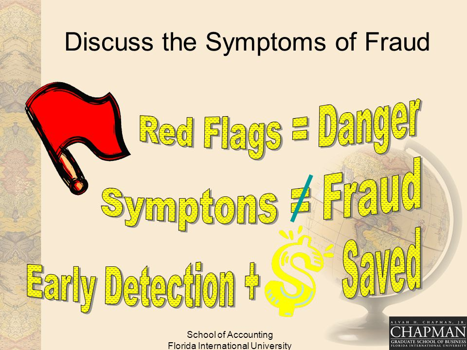 School of Accounting Florida International University Discuss the Symptoms of Fraud
