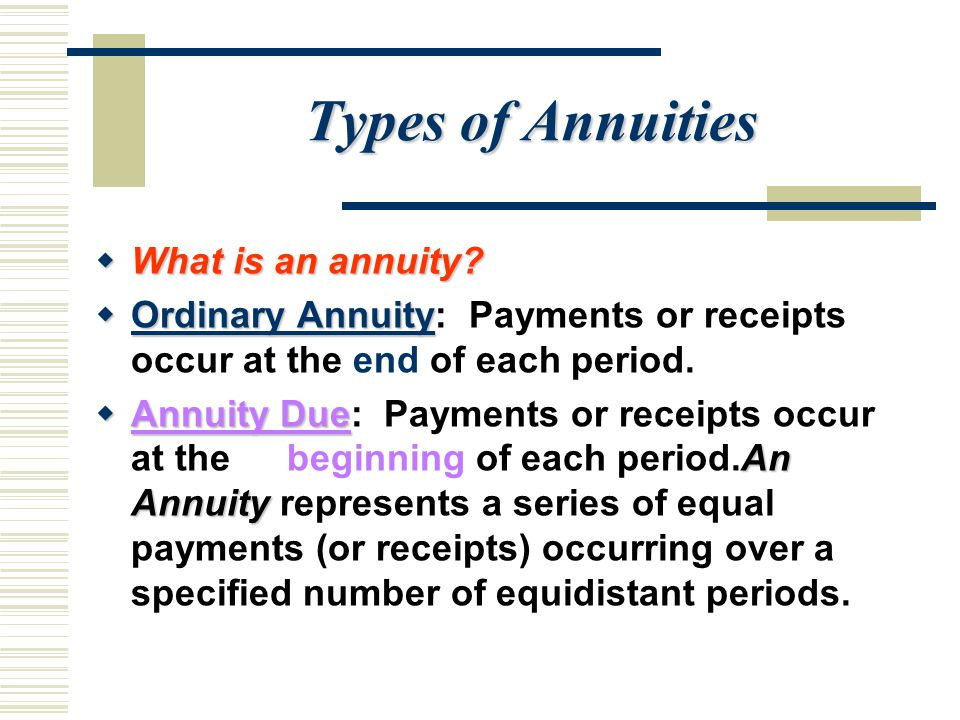 Types of Annuities  What is an annuity.