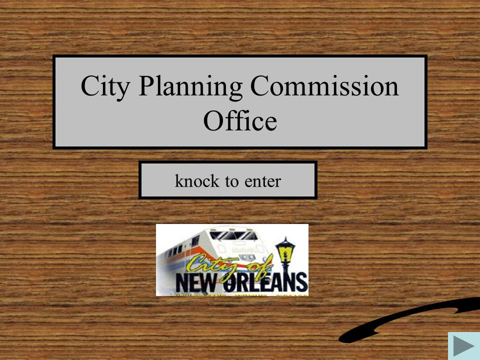 City Planning Commission Office knock to enter