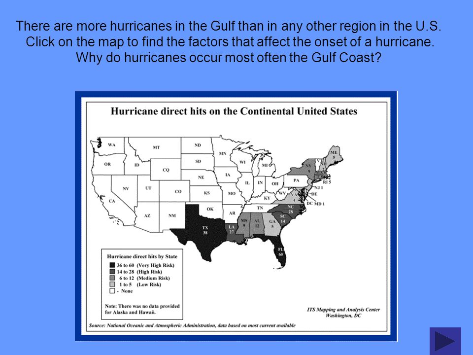 There are more hurricanes in the Gulf than in any other region in the U.S.
