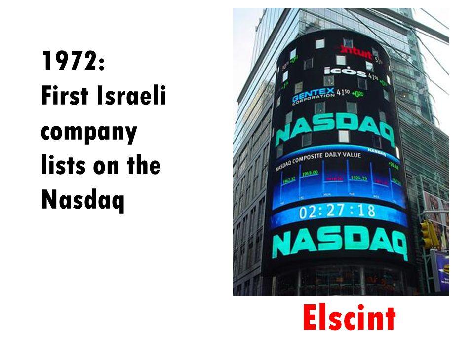 1972: First Israeli company lists on the Nasdaq Elscint
