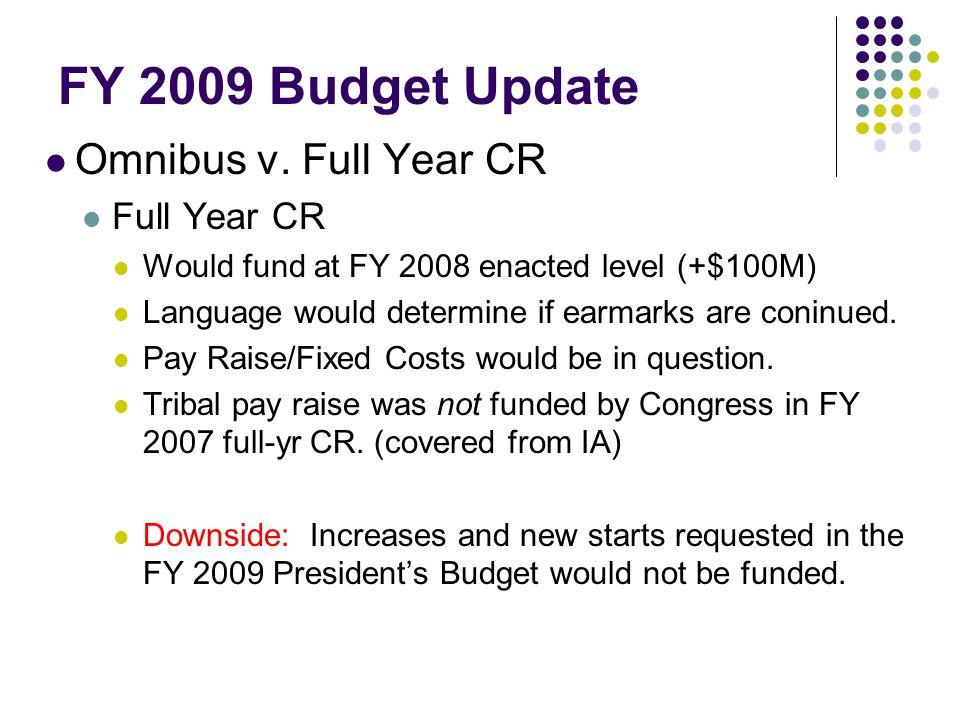 FY 2009 Budget Update Omnibus v.