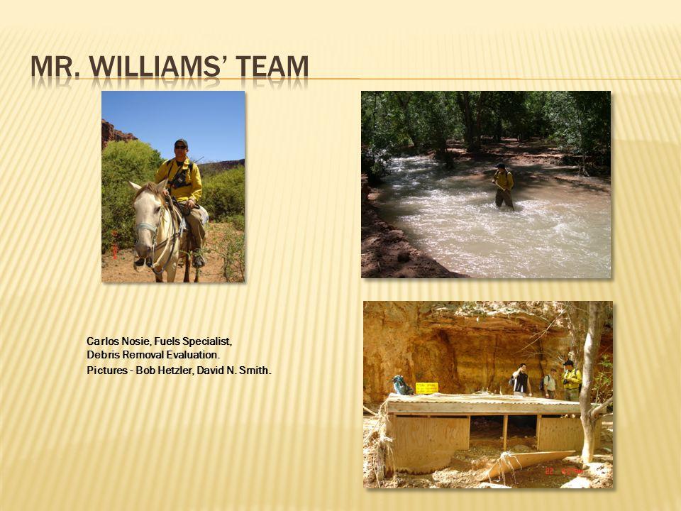 Carlos Nosie, Fuels Specialist, Debris Removal Evaluation. Pictures - Bob Hetzler, David N. Smith.