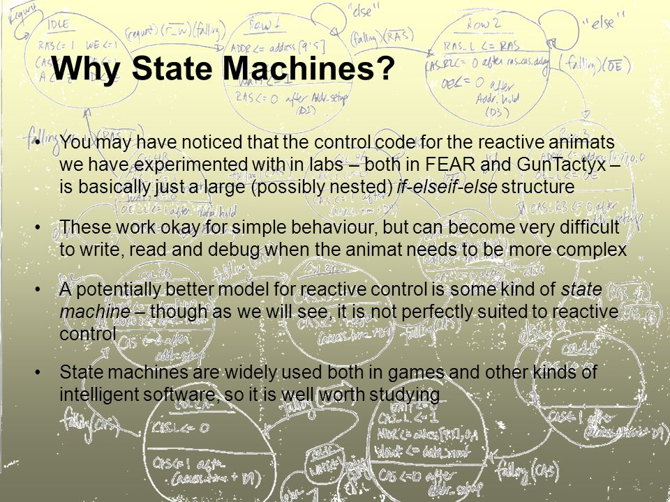 Why State Machines.