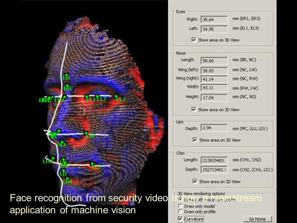 ICT2194 Face recognition from security video is now a mainstream application of machine vision