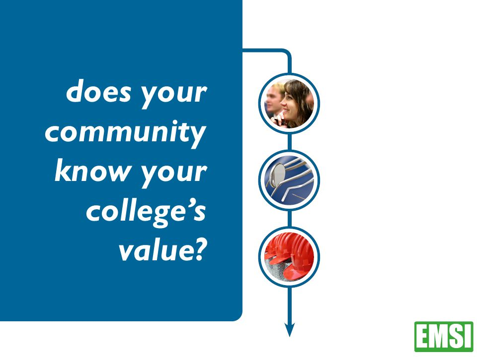 does your community know your college's value