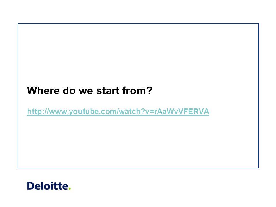 Where do we start from http://www.youtube.com/watch v=rAaWvVFERVA