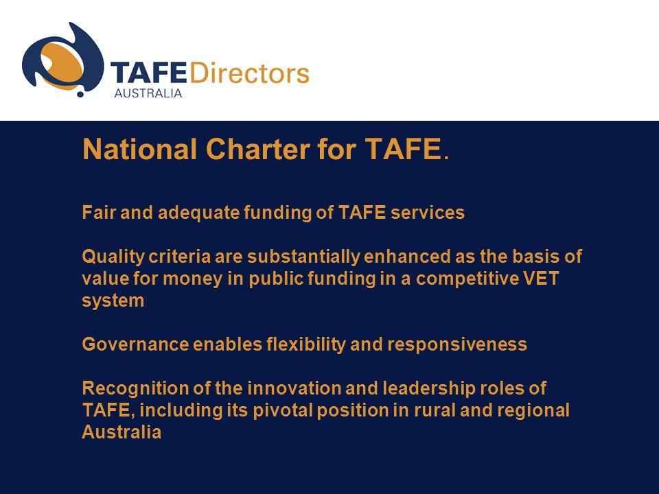 National Charter for TAFE.