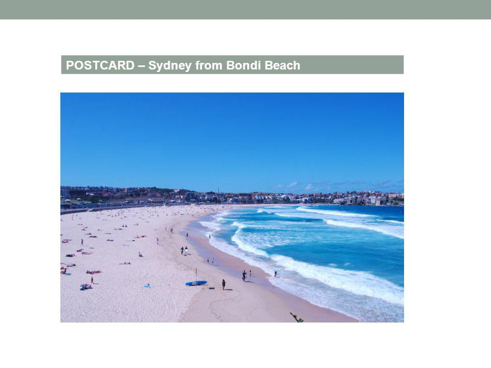 POSTCARD – Sydney from Bondi Beach