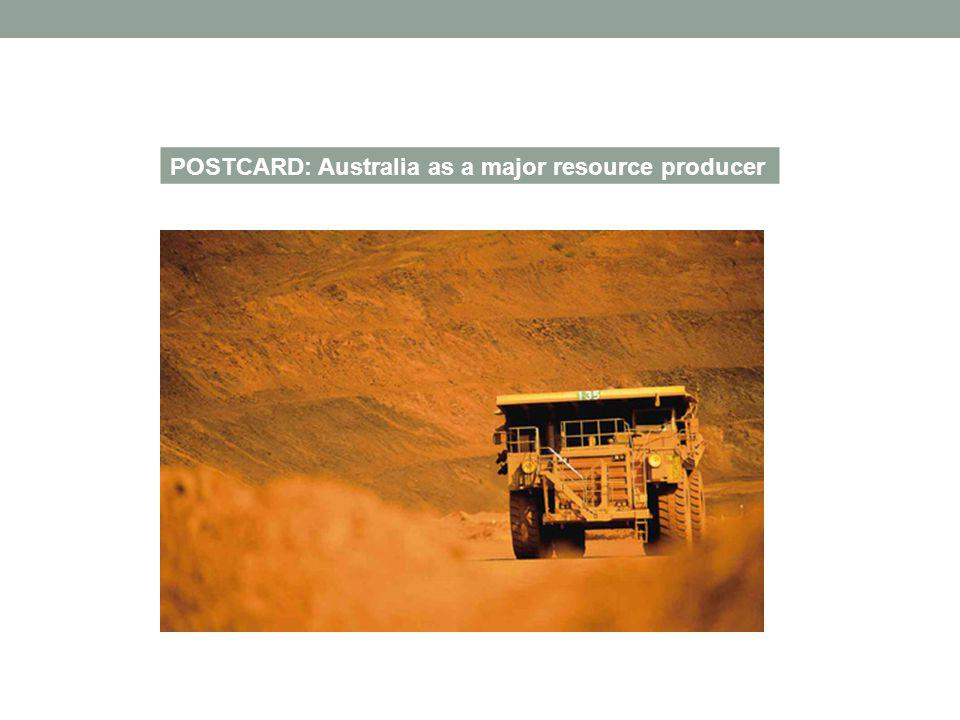 POSTCARD: Australia as a major resource producer