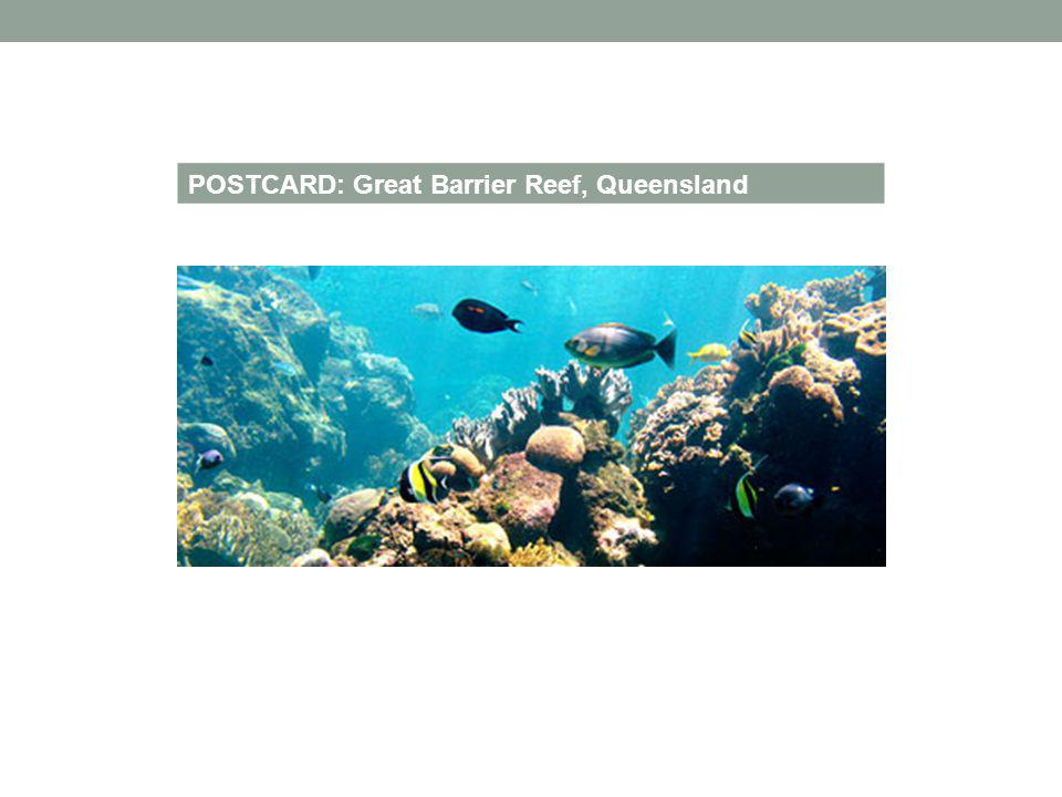POSTCARD: Great Barrier Reef, Queensland