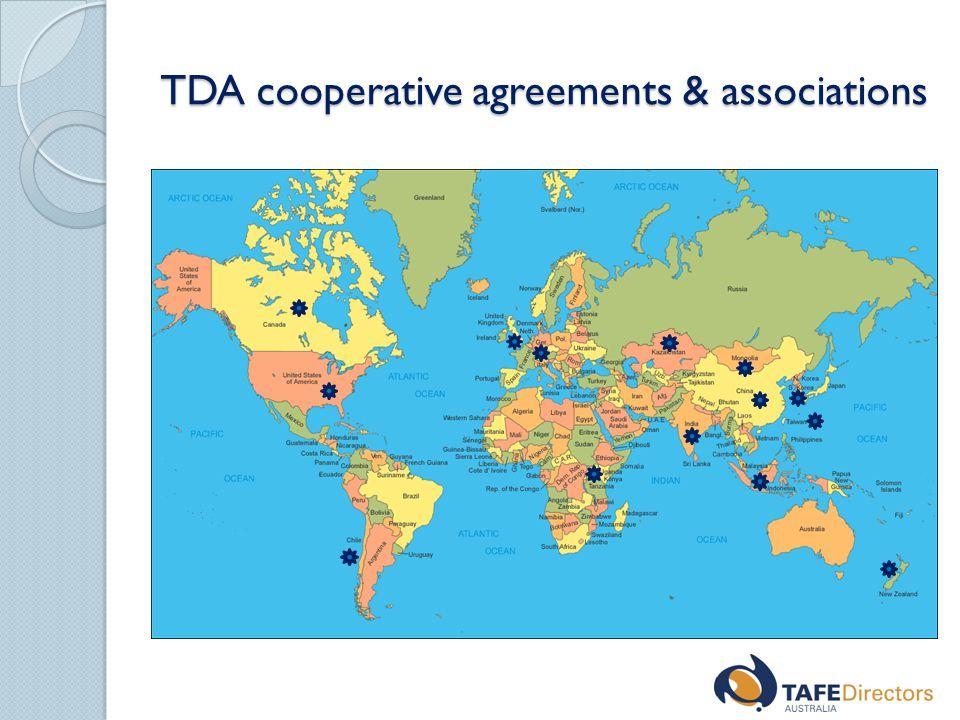 TDA cooperative agreements & associations
