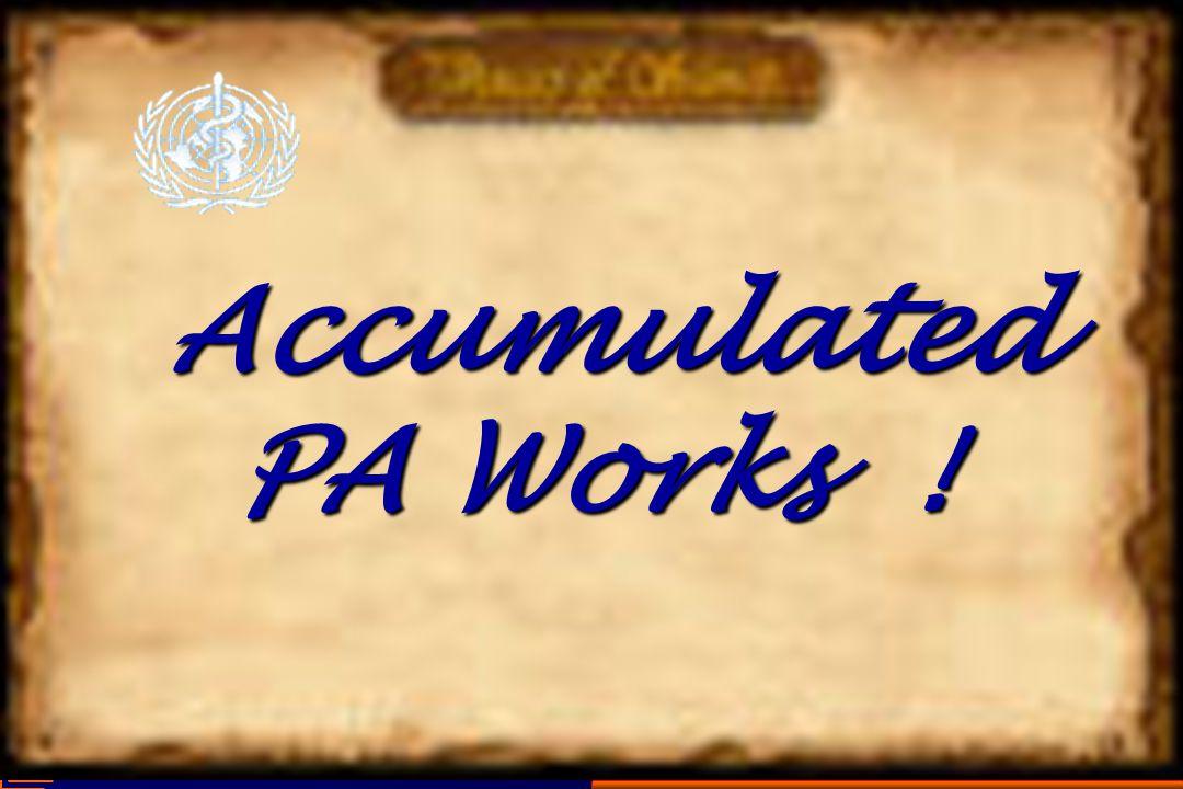 Accumulated PA Works ! Accumulated PA Works !