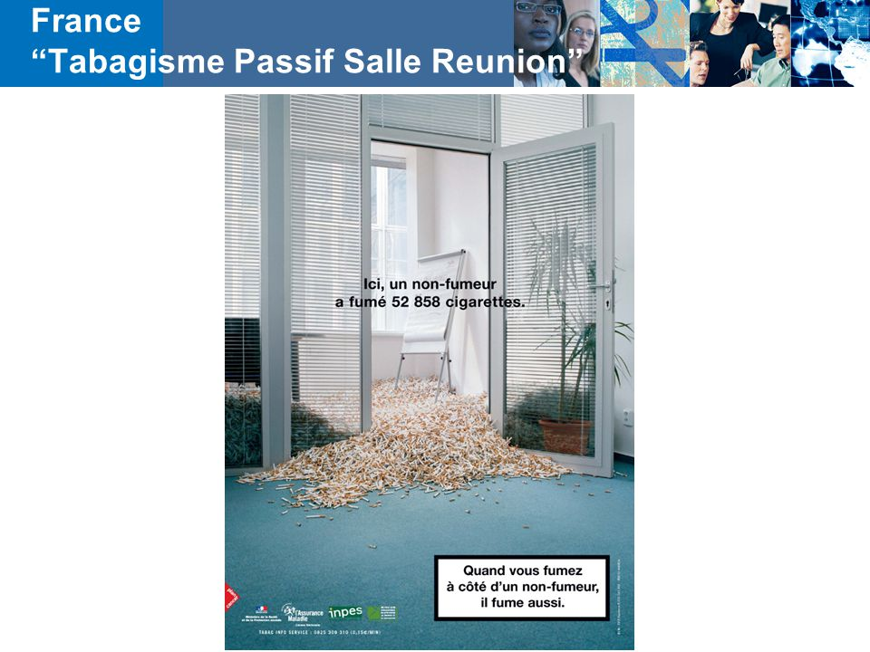 "France ""Tabagisme Passif Salle Reunion"""