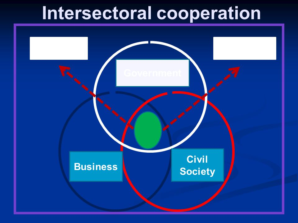 Intersectoral cooperation Government Business Civil Society Health