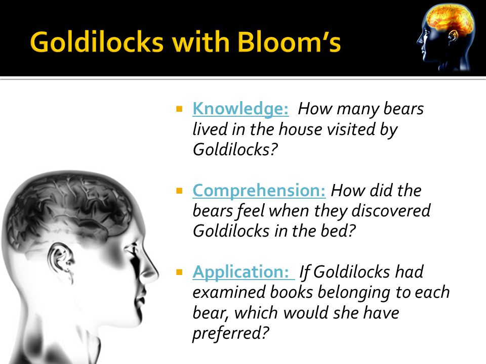  Knowledge: How many bears lived in the house visited by Goldilocks.