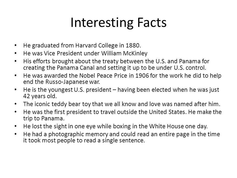 Interesting Facts He graduated from Harvard College in 1880.