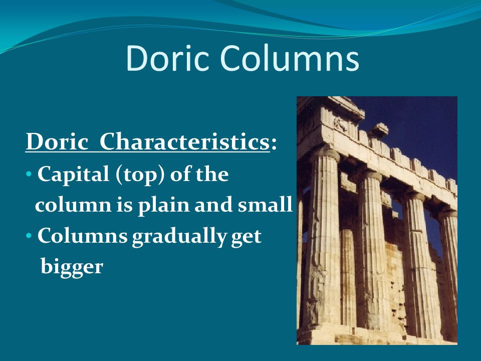 What type of columns? U.S. Whitehouse - Ionic