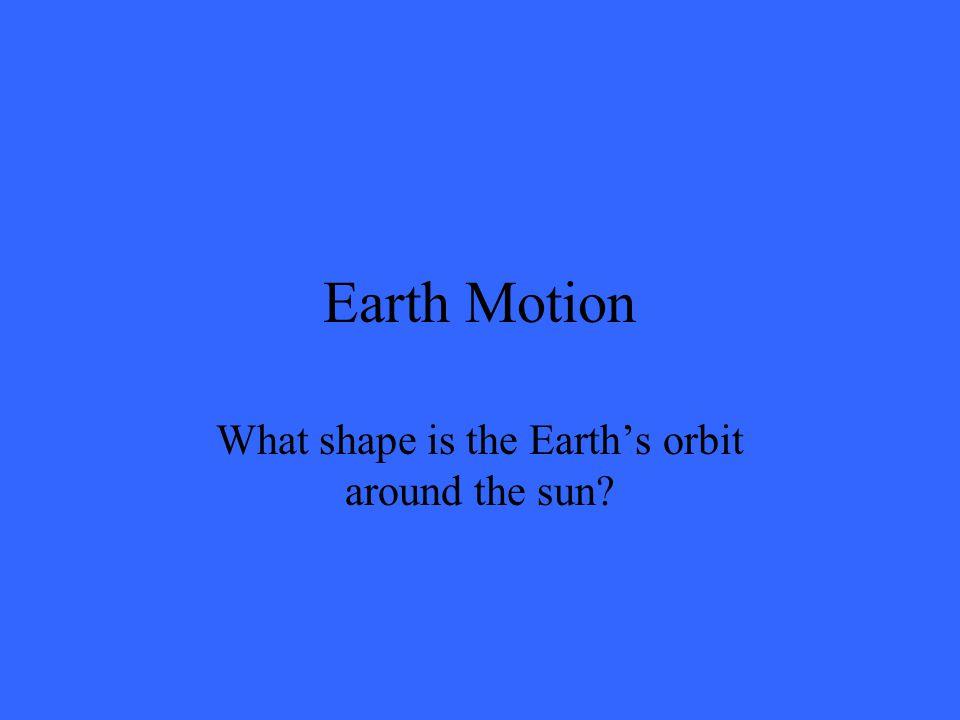 Earth Motion False. The sun doesn't move.