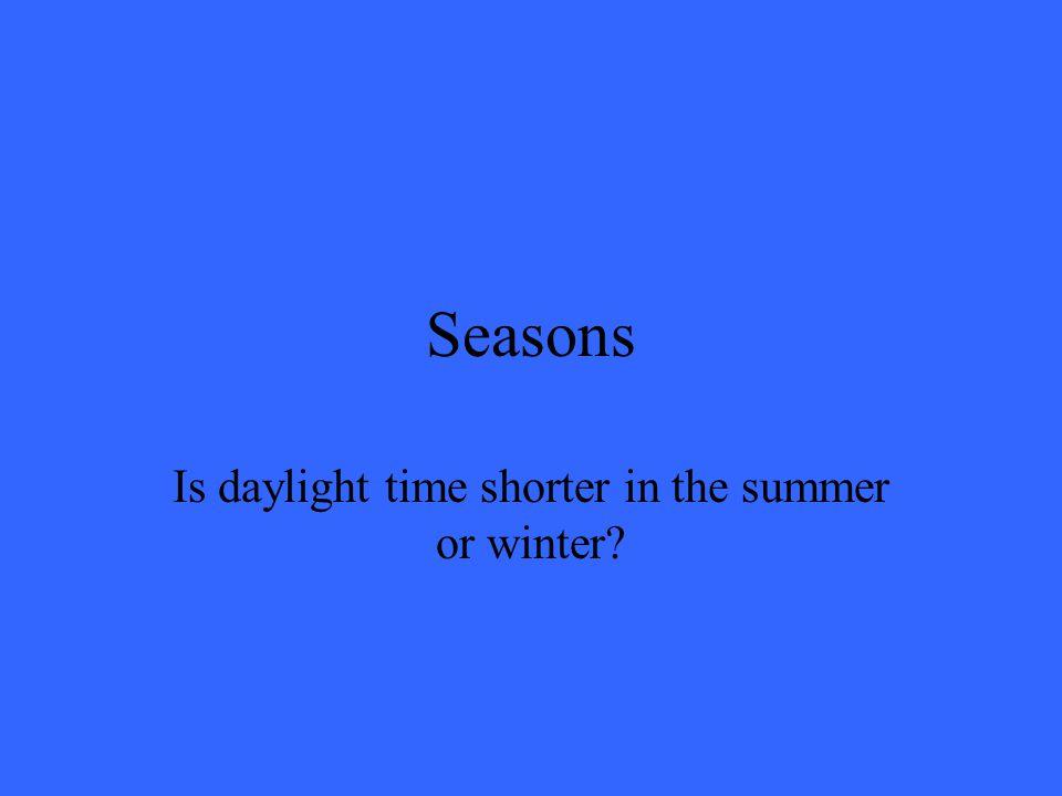 Seasons True!