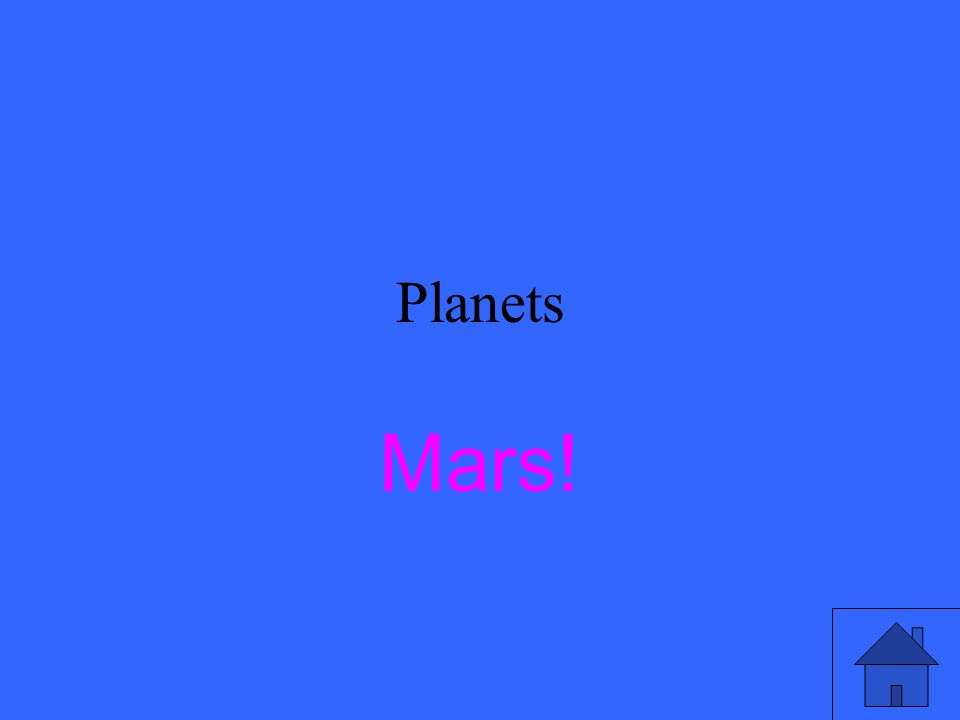Planets Which planet is like a red desert