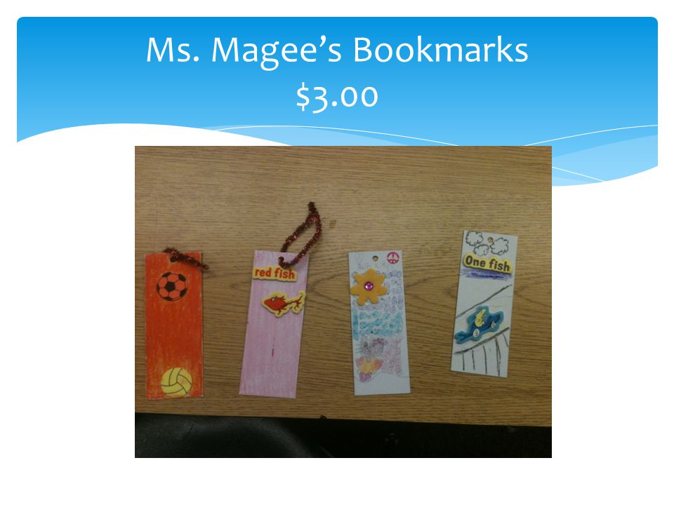 Ms. Magee's Bookmarks $3.00