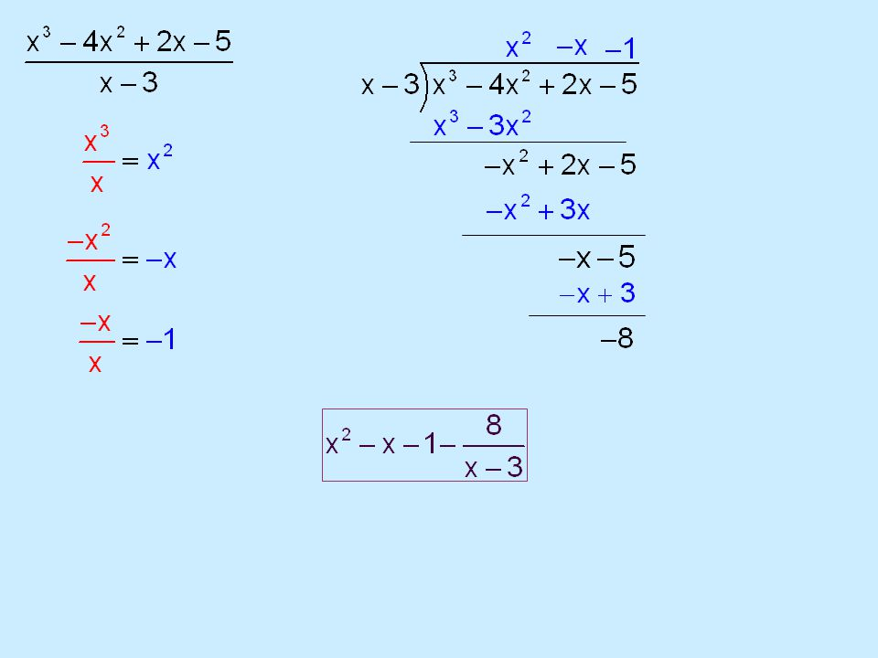 Synthetic Division Summary 1.Set denominator = 0 and solve (box number) 2.Bring down first number 3.Multiply by box number and add until finished 4.Remainder goes over divisor Notes of Caution 1.ALL terms must be represented (even if coefficient is 0) 2.If box number is a fraction, must divide final answer by the denominator To evaluate a function at a particular value, you may EITHER: A)Substitute the value and simplify OR B)Complete synthetic division…the remainder is your answer