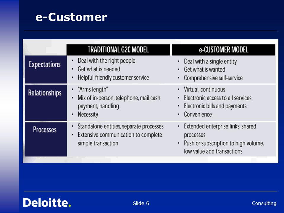 Consulting Slide 6 e-Customer