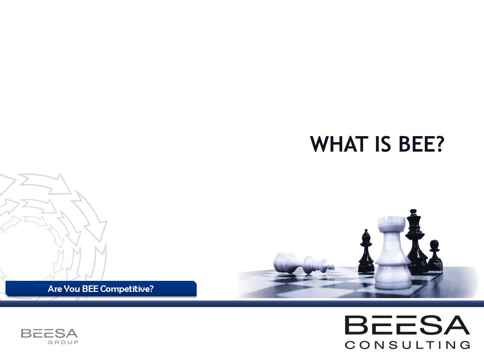 Are You BEE Competitive? WHAT IS BEE?