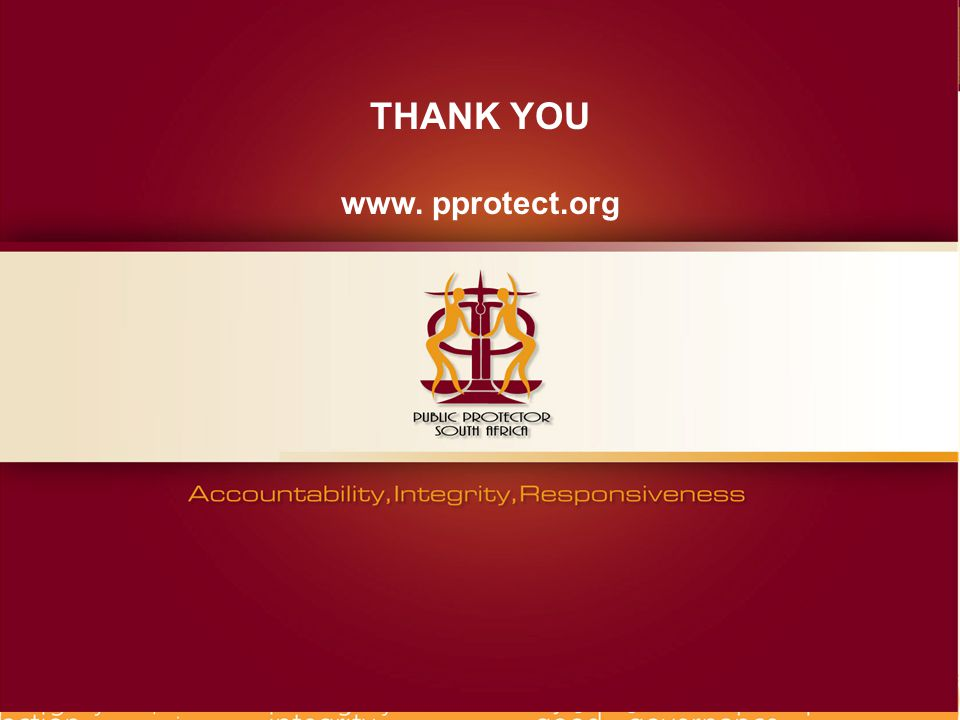 THANK YOU www. pprotect.org