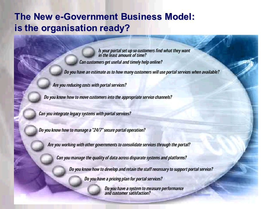 This information is confidential. Do not disclose outside DTT. The New e-Government Business Model: is the organisation ready?