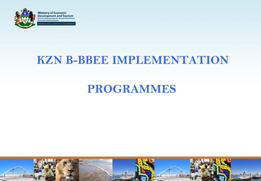 KZN B-BBEE IMPLEMENTATION PROGRAMMES