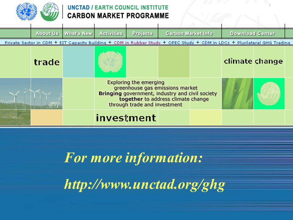 For more information: http://www.unctad.org/ghg