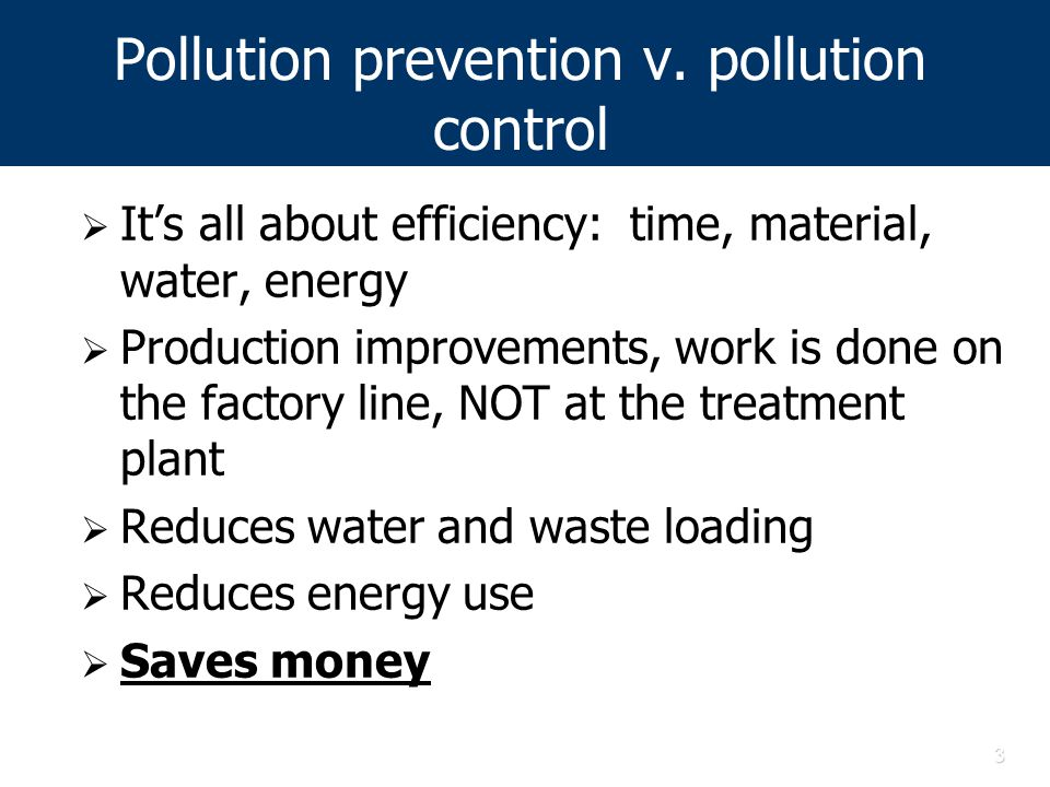 3 Pollution prevention v.