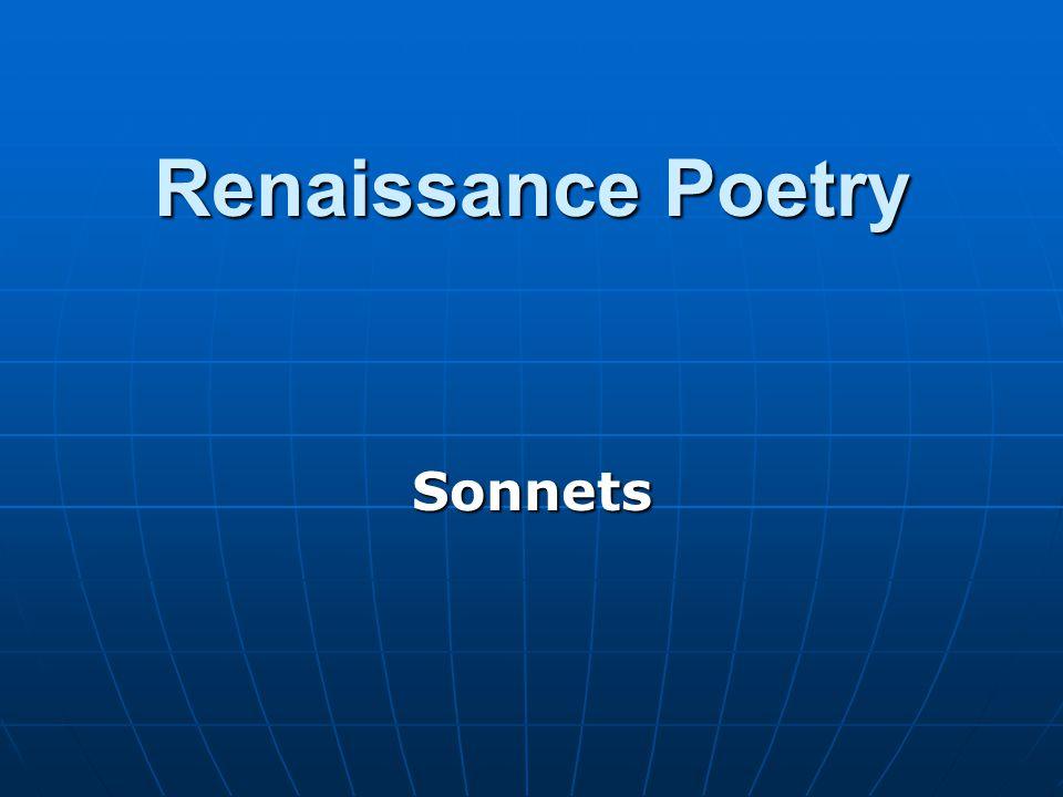 Renaissance Poetry Sonnets