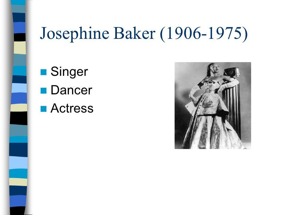Josephine Baker (1906-1975) Singer Dancer Actress