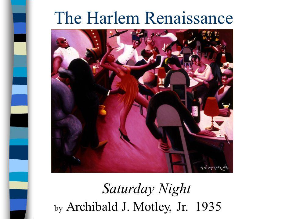 The Harlem Renaissance Saturday Night by Archibald J. Motley, Jr. 1935