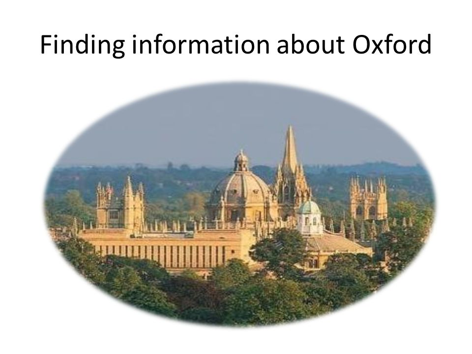 Finding information about Oxford