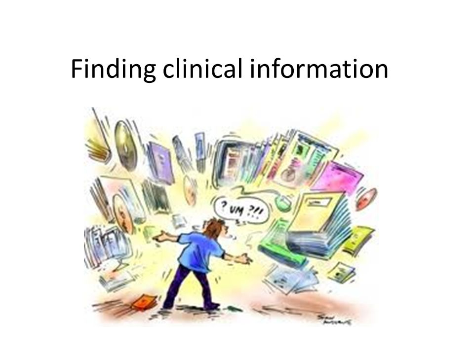 Finding clinical information