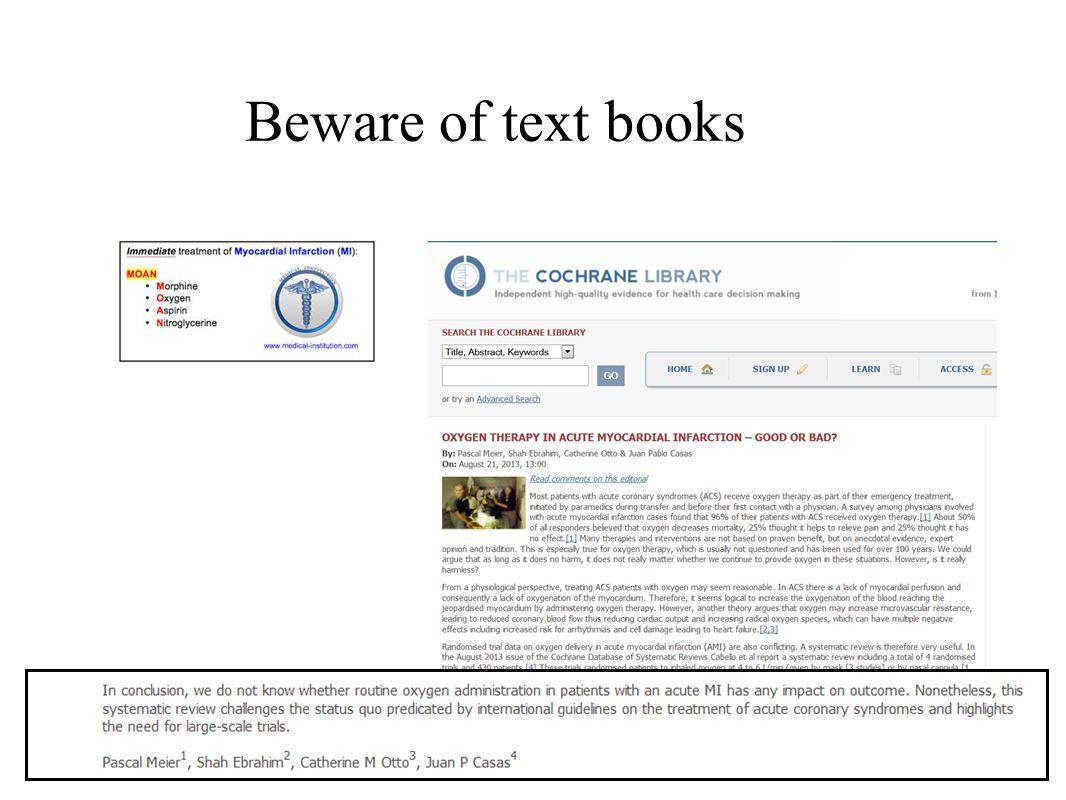 Beware of text books