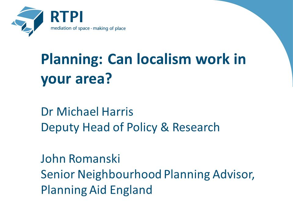 Planning: Can localism work in your area.