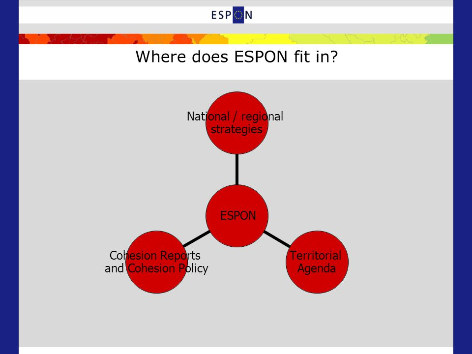 Where does ESPON fit in.