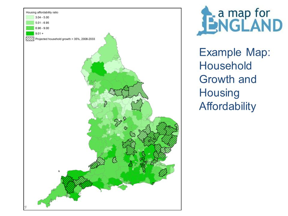 Example Map: Household Growth and Housing Affordability