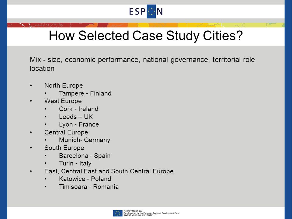 How Selected Case Study Cities.