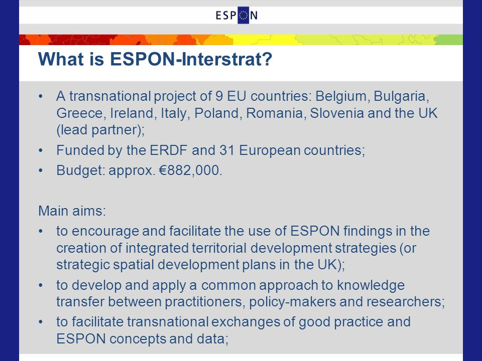 What is ESPON-Interstrat.