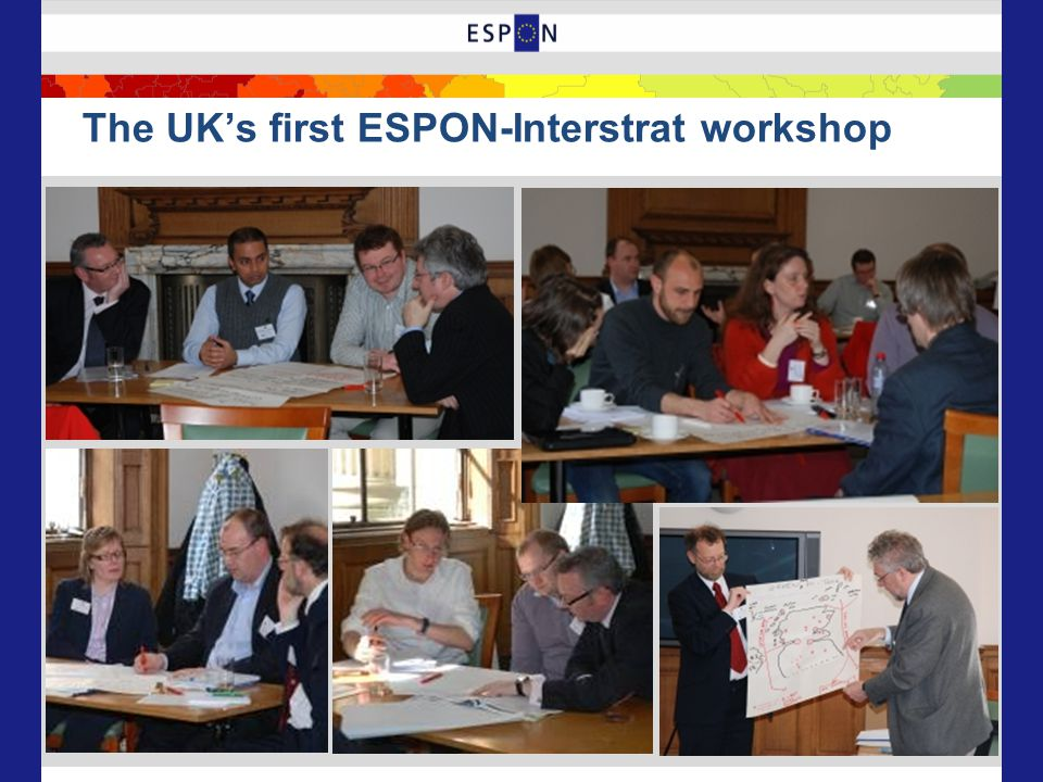 The UK's first ESPON-Interstrat workshop
