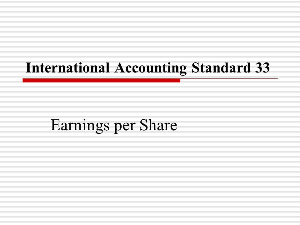 International Accounting Standard 33 Earnings per Share
