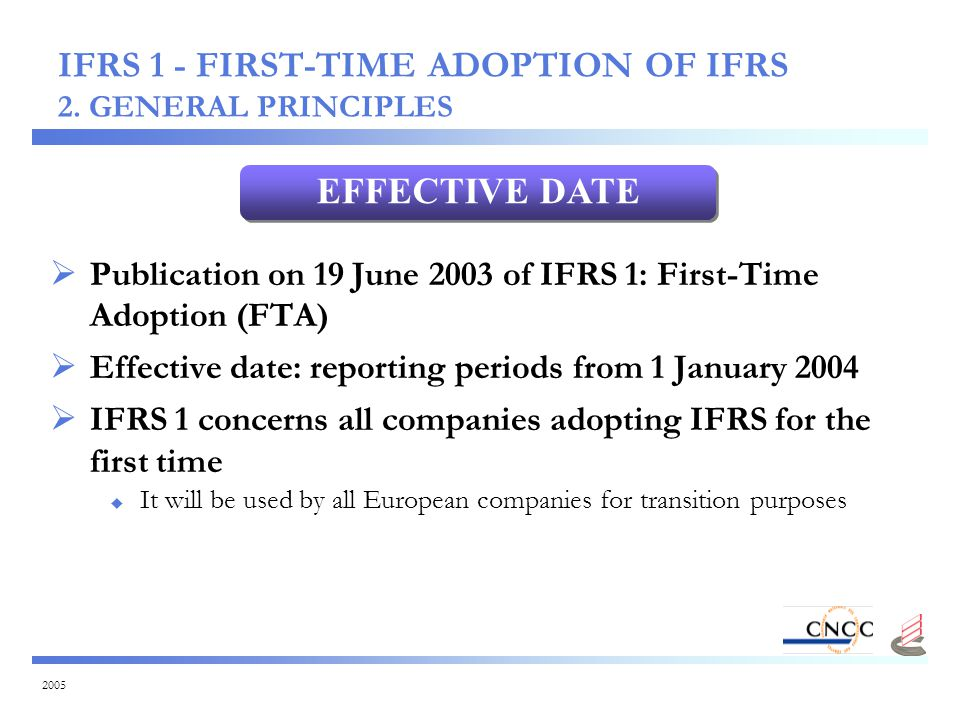 2005 IFRS 1 - FIRST-TIME ADOPTION OF IFRS 2.