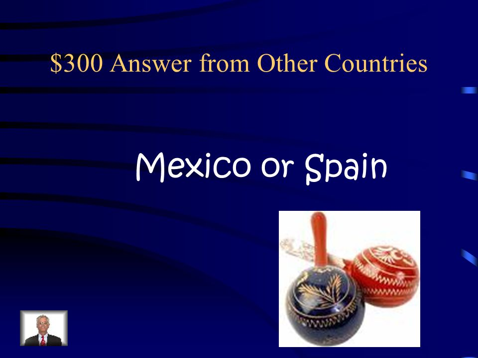 $300 Question from Other Countries In what country would you wish someone, Feliz Navidad